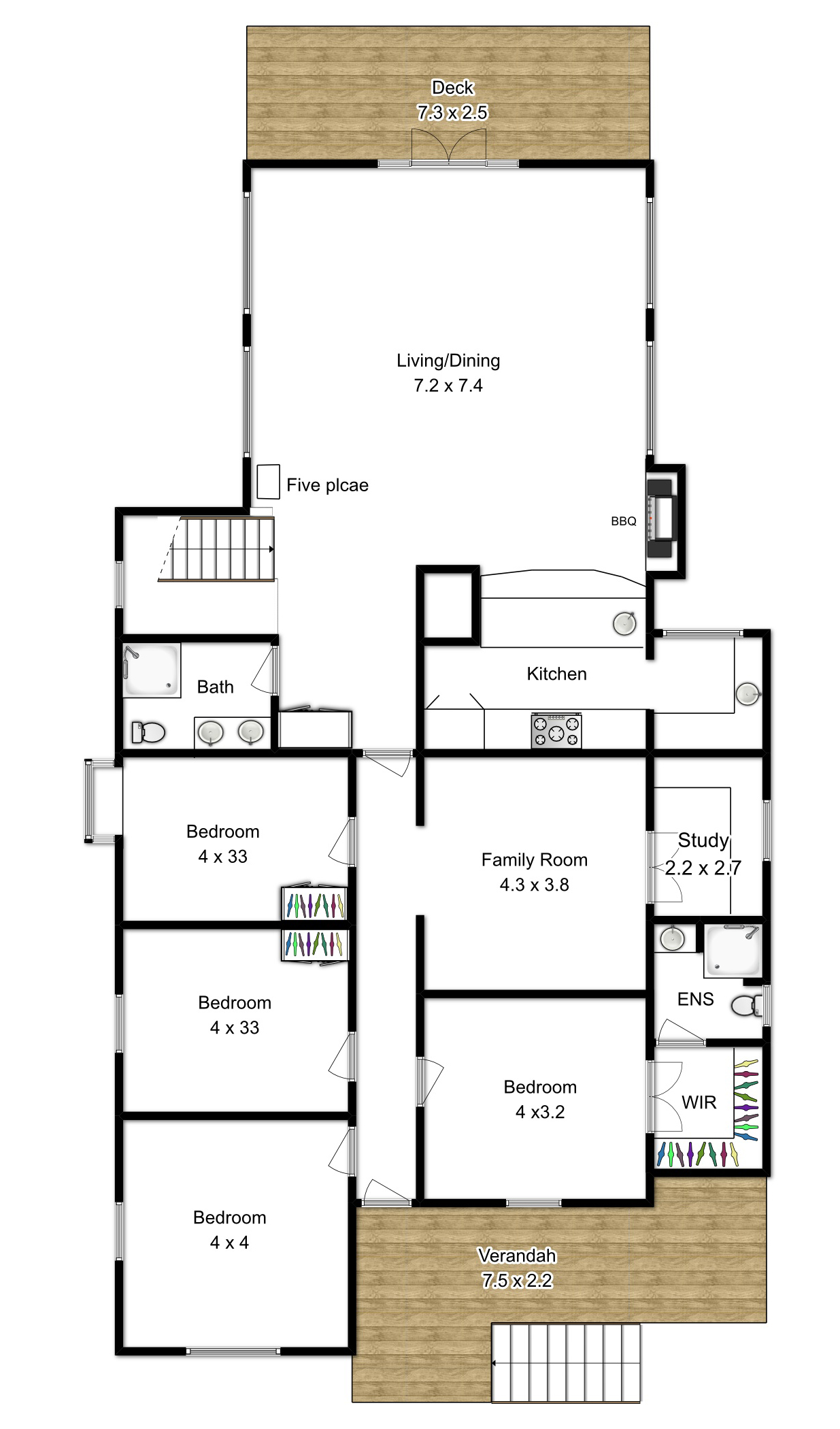 Black And White Floor Plan