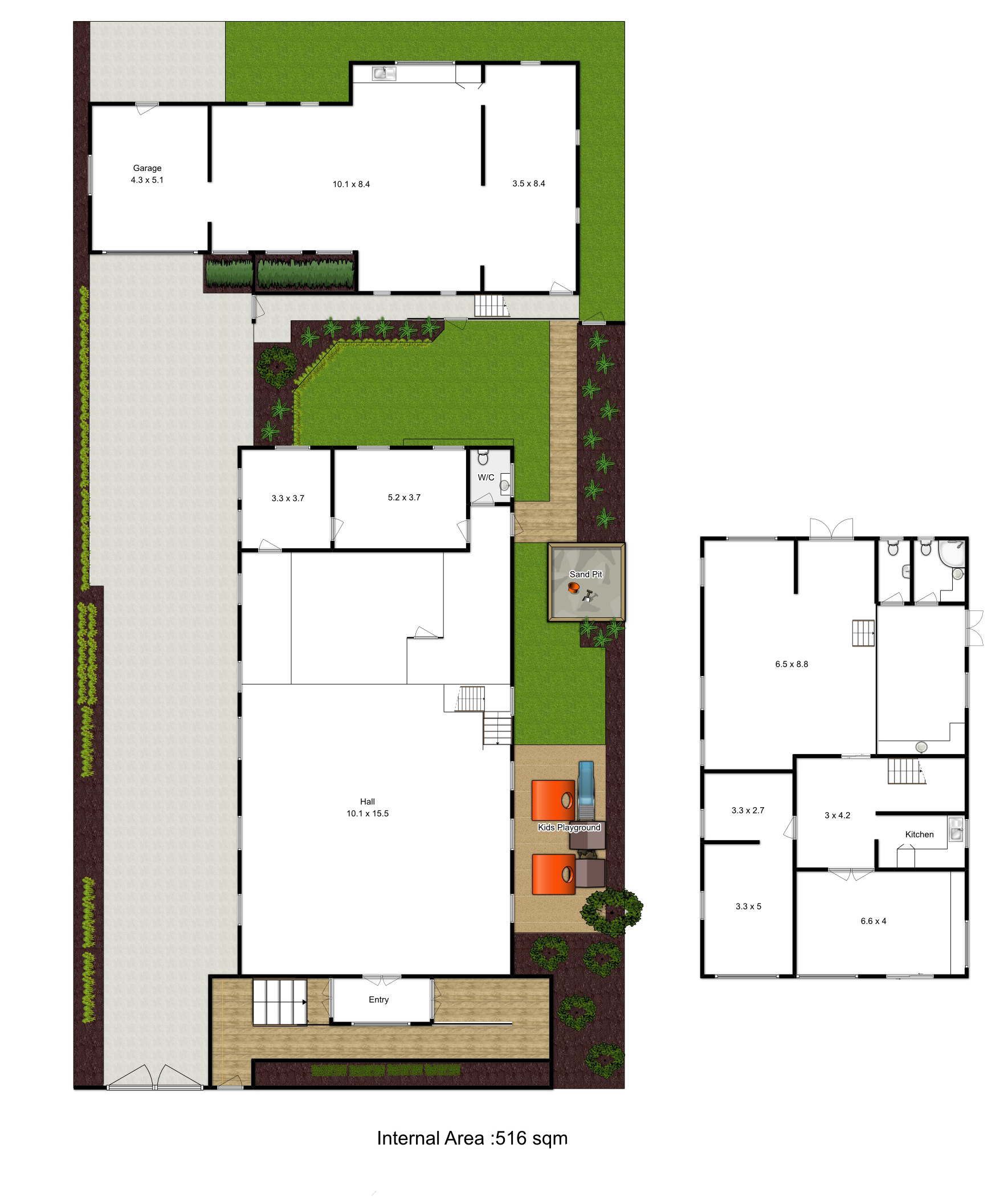 Floor Plan with Sitemap