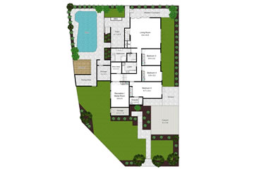 Floor Plan With Site Map